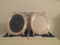 Set of frame and mirror ALCUDIA in sterling silver