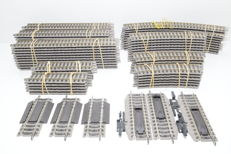 Fleischmann H0 rail - 78 piece lot Profirail with straight and curved rail, and disconnect and compensation rails
