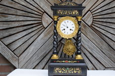 French portico mantel clock - period 1880