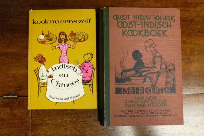 Lot of 2 Indonesian cookbooks-1942/1965