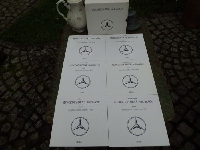 Set of 6 Mercedes Benz books - all models from 1913 to 1998 - 1,200 pages