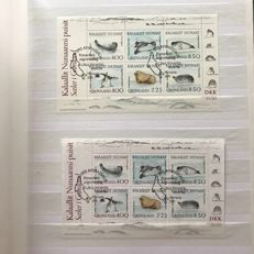 Greenland 1991/2012 - collection of stamps and blocks with duplication - Michel Block 3/584