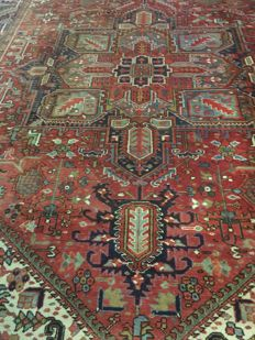 Beautiful original Persian Heriz with natural colours! approx. 290 x 400 - in very good condition - Persia - quick shipping