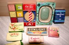 Lot of 15 different old soap - approx. 1st half 20th century