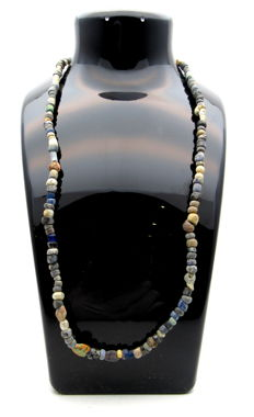 Medieval Viking period Necklace with Coloured Glass Beads - 490 mm