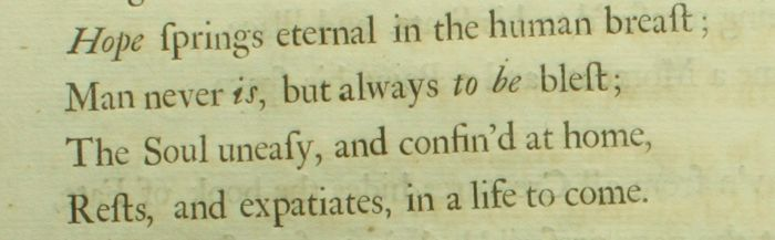 pope an essay on man epistle i 1733 Alexander pope (1688-1744) an essay on man: epistle i  they did not appear until between february and may 1733, and the fourth epistle  the essay on man was.
