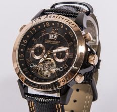 CALVANEO1583 ASTONIA 5th ANNIVERSARY ROSEGOLD / BLACK — AUTOMATIC MEN'S WRISTWATCH — NEVER WORN