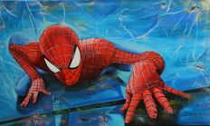 Original Oil Painting On Canvas By Gabriel Brisan - Spider-man - (2017)