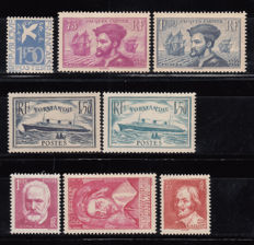 France 1934/1935 - Lot of stamps - Yvert No. 294 , 296 / 297 , 299 / 300 , 304 , 305 , 306