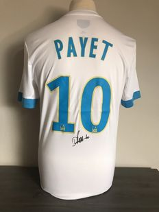 Dimitri Payet signed Olympique de Marseille away shirt  17/18 with photos of the autograph moment and COA