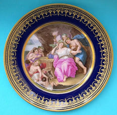 Nymphenburg - superb porcelain plate, Vienna style