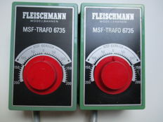 Fleischmann N/H0 - 6735 - 2 x Transformers/Drive controllers with MSF fine-tuning.14.5 VA
