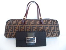Lot of 2: Fendi handbag and Fendi bi-fold clutch -*No Reserve Price!*