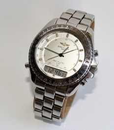 Breitling - New Pluton Alarm Chronograph - A51037 - Men - 1980-1989