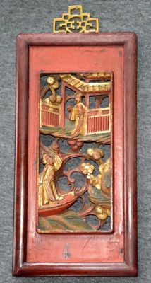 Wooden carving with gold-paint - China - around 1900