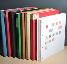 World - Collection in 1 Gold Crest album and stock books