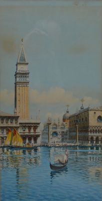 "Unknown (19th/20th Century) ""St Mark's in Venice from the canal"""