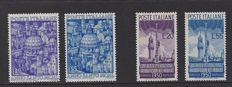Italy 1950 - St. Peter and Radio conference Florence - Michel NN. 793/794 en 796/797.