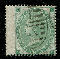 Great Britain 1862/64 - Queen Victoria - 1 shilling, green, Stanley Gibbons 90