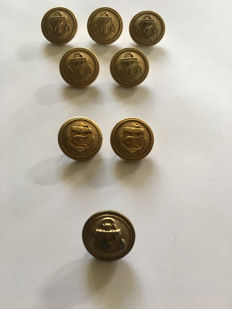 War navy buttons 1940