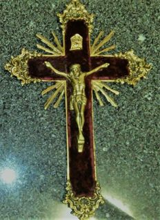 Antique large bronze Christ Cross. Ca. 1900 - Portugal.