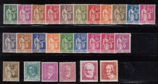 France 1932/1935 - Lot of stamps - Yvert No. 280 / 289 , 291 / 294 , 298 , 304 , 306