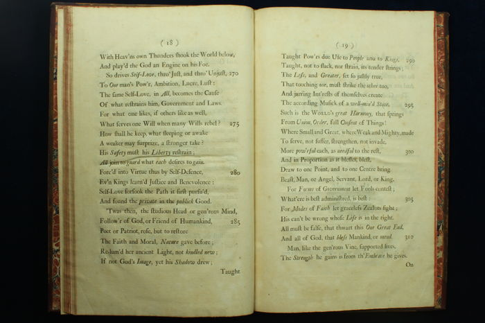 an essay on man 1733 An essay on man address'd to a friend part i [with all parts] pope, alexander]  published by printed for j wilford (1733) used hardcover first edition.
