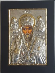 999 silver Icon of St. Nicholas