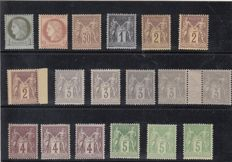 France 1860-1890 - lot of pairs and strips with beautiful cancellations and Cérès Type and Sage Types lots.