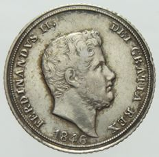 Kingdom of the Two Sicilies - 10 Grana, 1846 Ferdinand II - Silver