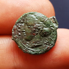 Greek Antiquity - Magna Graecia – Sicily, Himera Mint – 407 BC - Bronze Hemilitron - (4,01 gr., 17,5 mm.)