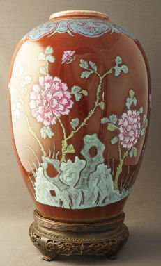 Flambé vase with landscape decoration - China - around 1900