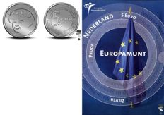 "The Netherlands – 5 and 10 euro 2004 and 2005, ""Birth coin, Jubilee coin, Kingdom's coin and Europa coin"" – silver"