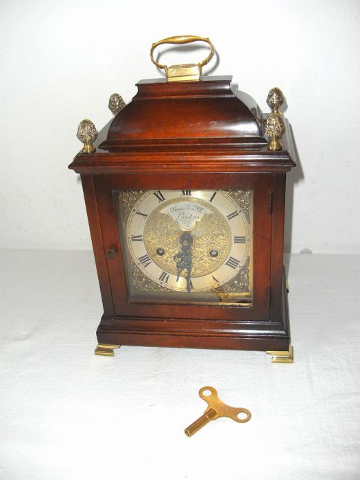 Large and unique English table clock - Marked John Smith London - approx. 1950 - Movement is numbered.