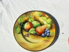 Beautiful hand painted plate signed  J. Mottram
