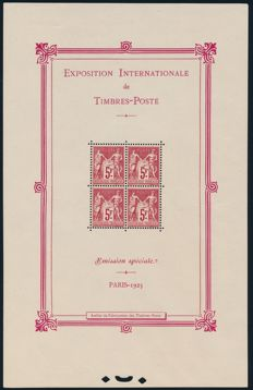 "France 1925 – ""International stamp exhibition Paris"" – Yvert block 1"