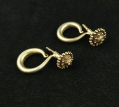 Vintage hand-made silver earrings - Golden Triangle (Hmong), from the early 20th century