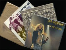 "Led Zeppelin lot of four great rock albums including ""Live Album Copenhagen 1979 In The Evening"" (2LP), ""Physical Graffitti (2LP)"" and two more"