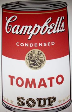 Tomato (Campbell´s Soup) - Andy Warhol - Lithograph Georges Israel Editeur . Numbered with Printed signature