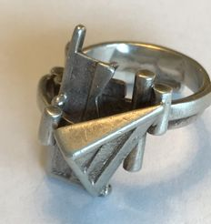 Silver Anneke Schat ring, size 51