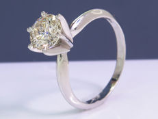 1,00 Ct stunning solitaire diamond ring - Size 50 - NO Reserve!