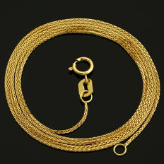 18 Kt Yellow Gold Chain 50 cm