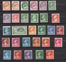 France 1922/47 - Selection of precancelled stamps -  Yvert between no. 39 and 68