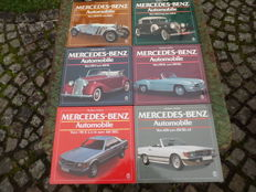 6 books Mercedes Benz - all models from 1913 until 1986 - 1200 pages