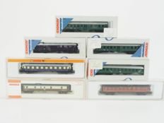 Arnold N - 7x various carriages of the DB/DR