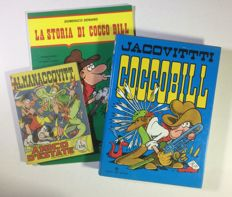 Jacovitti - Coccobill 3x volumes - both hardcover and paperback editions (1964-86)