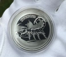 Deathstalker Scorpion 2017 - 1 OZ Proof-Like Silver Coin - Limited Edition!