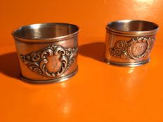 Two silver napkin rings, Russia, XXc.