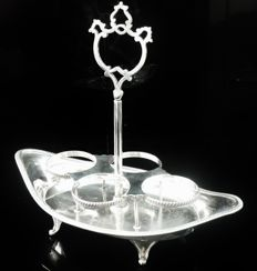 Silver Condiment Boat Stand, London 1898, R & W Sorley