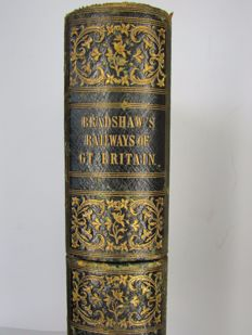 Book objects; Secret storage box in the shape of Bradshaw's Railways of Gt. Britain - circa 1900